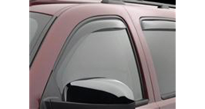 01-Up S60 Weathertech Side Window Deflectors - Front (Light)