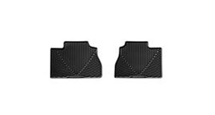 90-94 V8 Quattro Weathertech Rubber Floormats - Rear (Black)