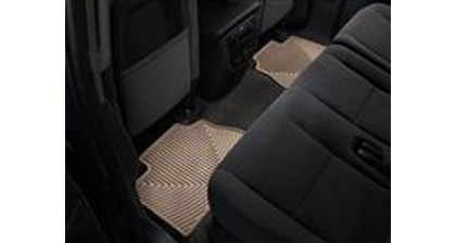 90-94 V8 Quattro Weathertech Rubber Floormats - Rear (Tan)