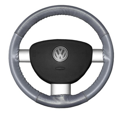 80-85 Bonneville Wheelskins Steering Wheel Cover - EuroPerf, Perforated Top & Bottom (Grey)