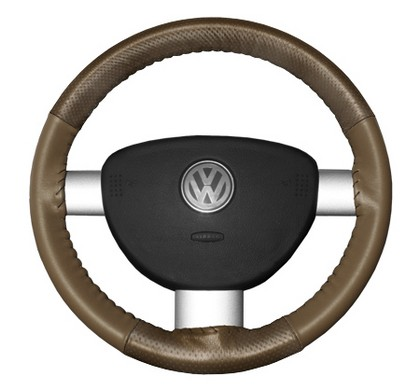 80-85 Bonneville Wheelskins Steering Wheel Cover - EuroPerf, Perforated Top & Bottom (Oak)