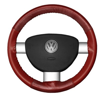 10-10 Charger Wheelskins Steering Wheel Cover - EuroPerf, Perforated Top & Bottom (Red)