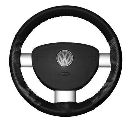 86-94 323 Wheelskins Steering Wheel Cover - EuroPerf, Perforated Sides (Black)
