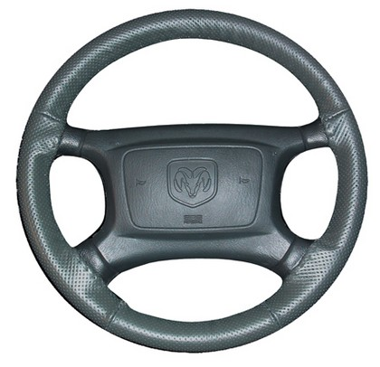 80-84 Rabbit Wheelskins Steering Wheel Cover - EuroPerf, Perforated All Around (Charcoal)