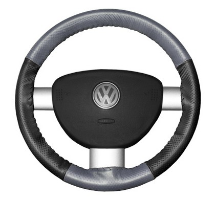 89-97 Probe Wheelskins Steering Wheel Cover - EuroPerf, Perforated All Around (Grey Top / Charcoal Sides)