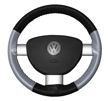 02-08 X-Type Wheelskins Steering Wheel Cover - Eurotone (Black Top / Grey Sides)