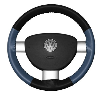 95-02 Millenia Wheelskins Steering Wheel Cover - Eurotone (Black Top / Sea Blue Sides)