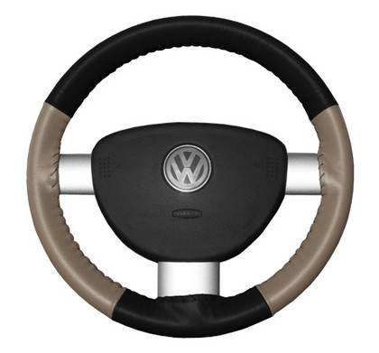 05-06 Stratus Wheelskins Steering Wheel Cover - Eurotone (Black Top / Sand Sides)