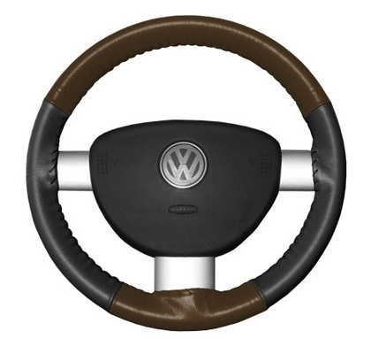92-00 Swift Wheelskins Steering Wheel Cover - Eurotone (Brown Top / Charcoal Sides)
