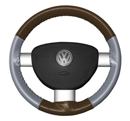 86-94 323 Wheelskins Steering Wheel Cover - Eurotone (Brown Top / Grey Sides)