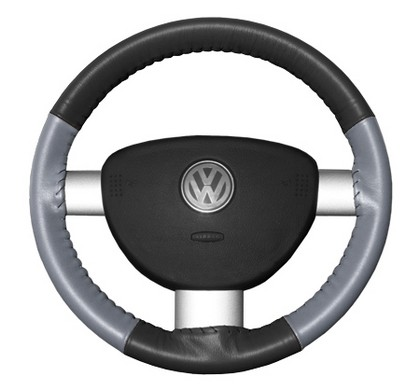 95-00 Contour Wheelskins Steering Wheel Cover - Eurotone (Charcoal Top / Grey Sides)