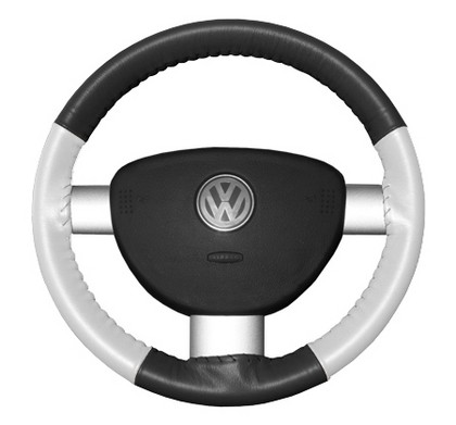 94-02 Passport Wheelskins Steering Wheel Cover - Eurotone (Charcoal Top / White Sides)