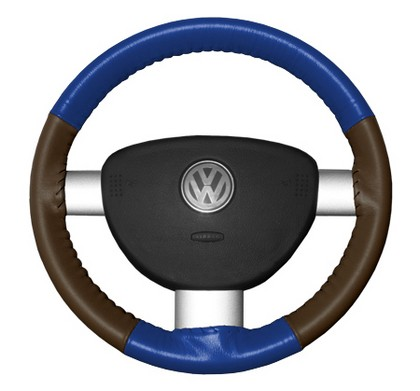 98-04 Durango Wheelskins Steering Wheel Cover - Eurotone (Cobalt Top / Brown Sides)