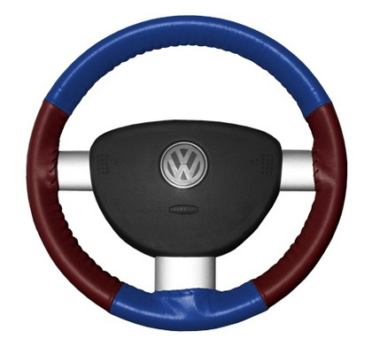 95-02 Millenia Wheelskins Steering Wheel Cover - Eurotone (Cobalt Top / Burgundy Sides)