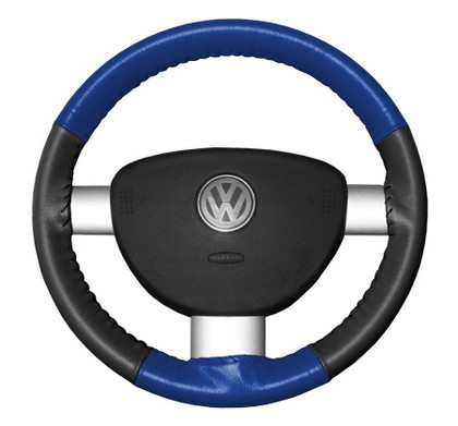 89-97 Probe Wheelskins Steering Wheel Cover - Eurotone (Cobalt Top / Charcoal Sides)