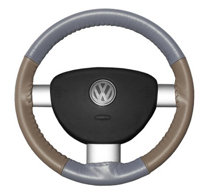 96-00 Hombre Wheelskins Steering Wheel Cover - Eurotone (Grey Top / Sand Sides)