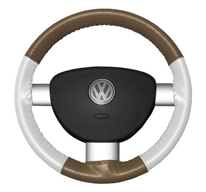 95-02 Millenia Wheelskins Steering Wheel Cover - Eurotone (Oak Top / White Sides)