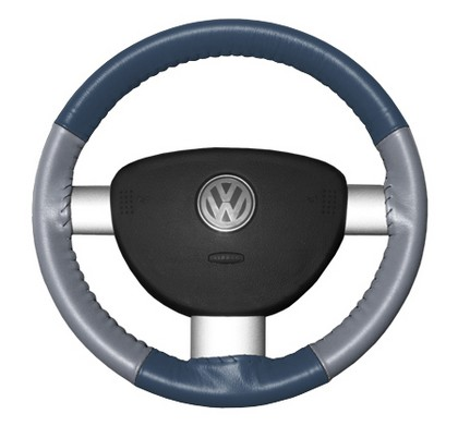 95-01 Odyssey Wheelskins Steering Wheel Cover - Eurotone (Sea Blue Top / Grey Sides)