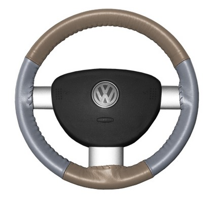 04-05 Sable Wheelskins Steering Wheel Cover - Eurotone (Sand Top / Grey Sides)