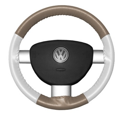 09-10 Genesis Wheelskins Steering Wheel Cover - Eurotone (Sand Top / White Sides)