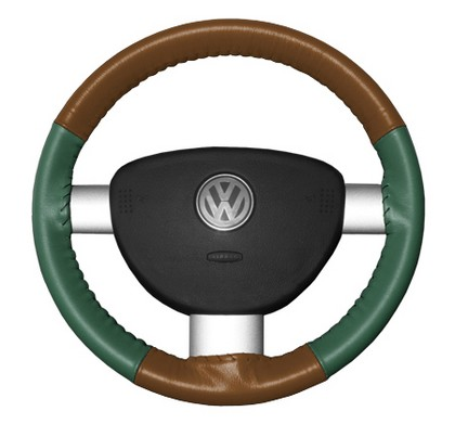 86-94 323 Wheelskins Steering Wheel Cover - Eurotone (Tan Top / Green Sides)