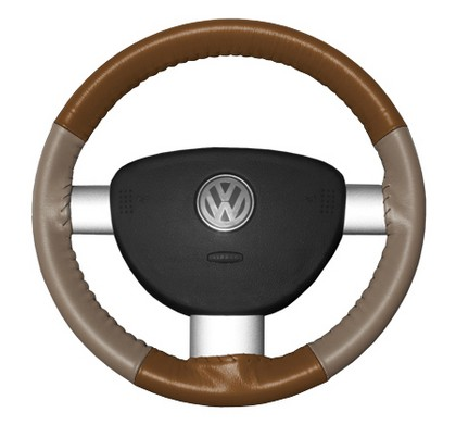 91-95 SL Wheelskins Steering Wheel Cover - Eurotone (Tan Top / Sand Sides)