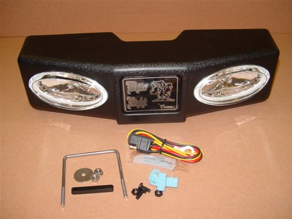 00-01 Chevy Tahoe White Night Fixed Mount Light Unit (For Towing Trucks) with Required 7-Pin Trailer Wiring Plug Relocation Plate