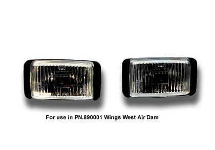 Wings West Aluminum Billet Grille Halogen Headlight Set - 3 Piece