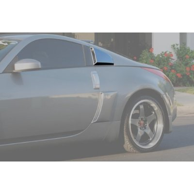 2003-2008 Nissan 350z Xenon Quarter Window Scoop - Left Rear (Urethane)