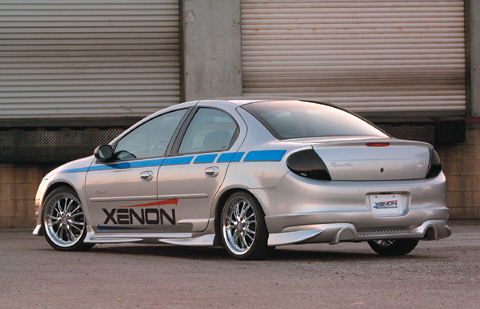00-02 Dodge Neon Xenon Body Kit - Rear Valance w/ Optional Dual Exhaust Opening (Urethane)