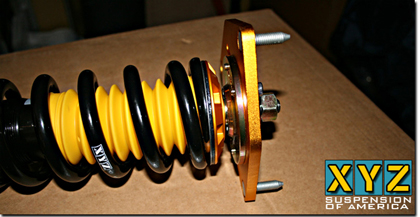 03-10 A3 Quattro (Outside diameter of strut: 50mm) XYZ Suspension Super Sport Dampers - Front Top Mount: Pillow Ball, Rear Top Mount: Standard (OE)
