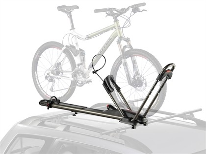 96-99 Infiniti I30 Naked Roof Yakima Bike Package - High Roller  Upright Mount with Q Towers Tower