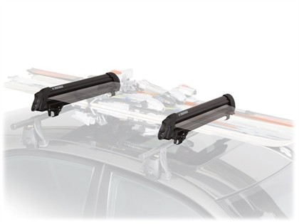 04-08 Chrysler Pacifica Factory Crossbars Yakima Snow Package - Big Powderhound Se with Mightymount 2V Tower