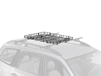 94-97 Ford Aspire 4Dr Naked Roof Yakima Baskets Package - Basketcase with Q Towers Tower