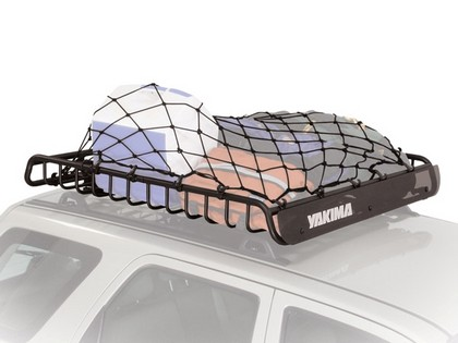 07-13 Toyota Fj Cruiser Naked Roof - Fixed Point Yakima Baskets Package - Megawarrior Stretch Net with Whispbar S8 Flush Tower