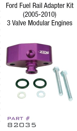 1984-1986 Ford Mustang (5.0 V8) ZEX? Fuel Rail Adapter Kit (Ford)